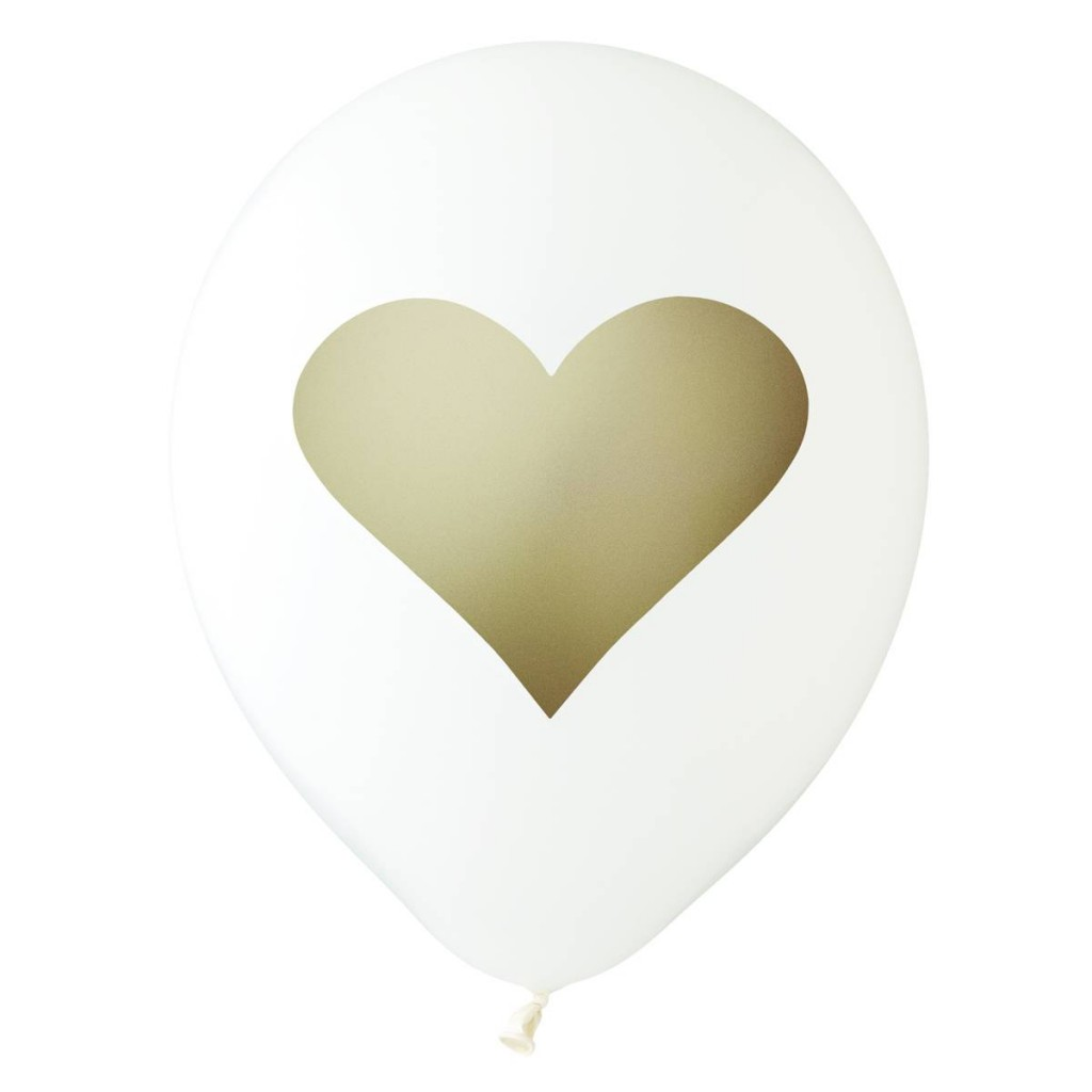 White gold heart balloon - Love the Occasion