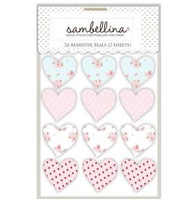 Floral heart stickers - Love The Occasion