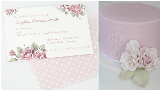 Floral party invitation (and matching cake) - Deliciously Yours
