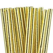 Gold straws - Ruby Rabbit Partyware