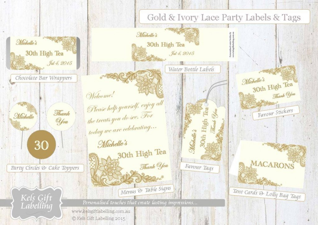 White gold printables - Kel's Gift Labelling