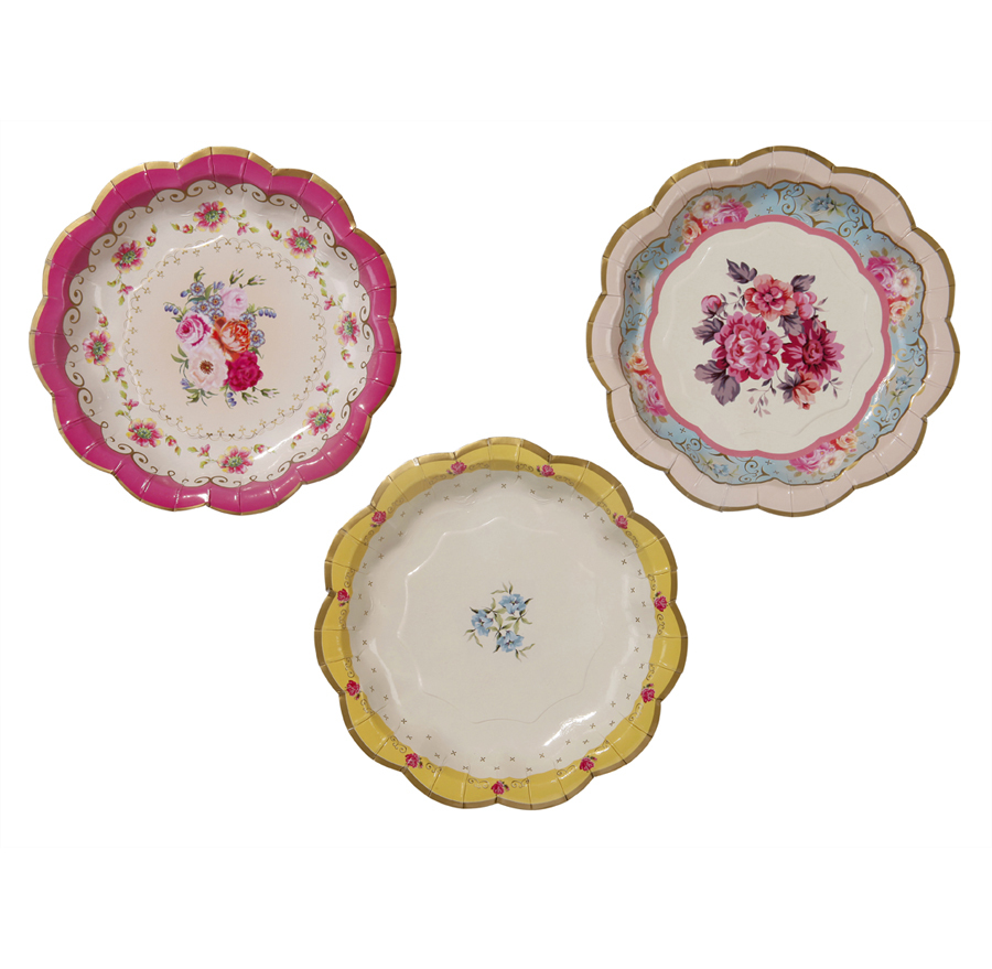 Truly Scrumptious floral plates - My Party Boutique