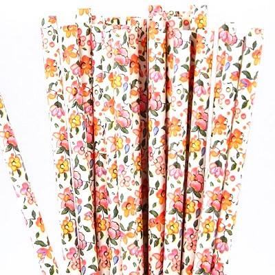 Vintage floral straws - Ruby Rabbit Partyware