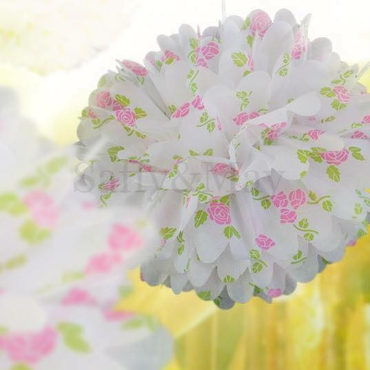Floral pom poms - Saffy and May