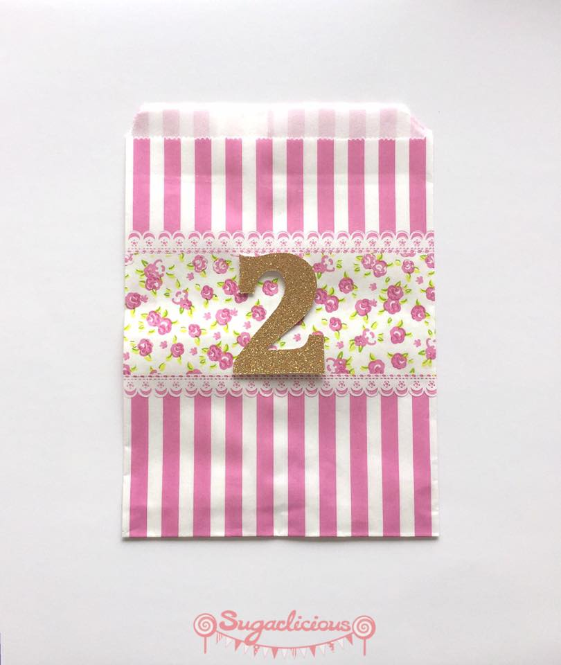 Floral favour bags - Sugarlicious Parties