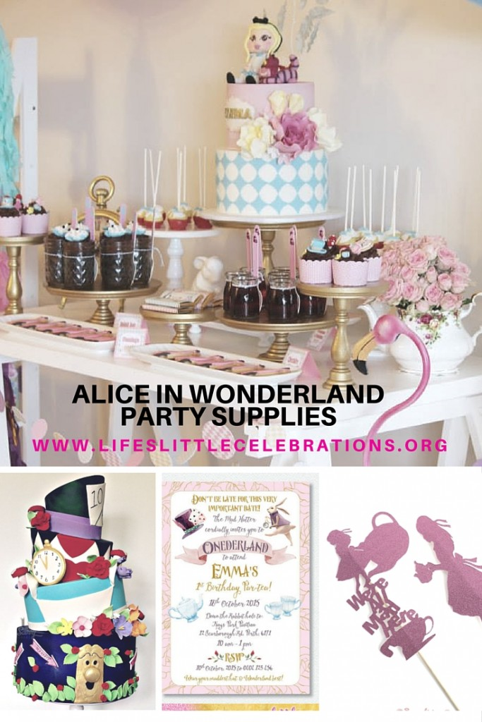 Alice in wonderland party supplies lifes little celebration for Alice in wonderland party decoration
