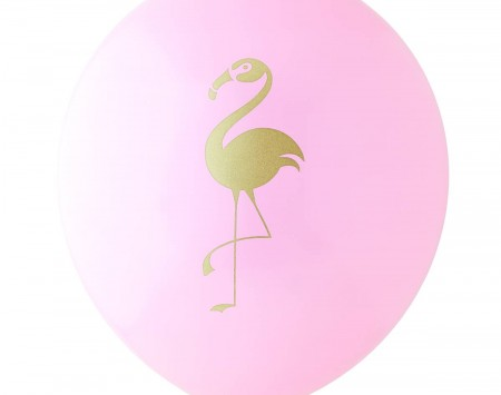 Pink and gold flamingo balloon - Love The Occasion