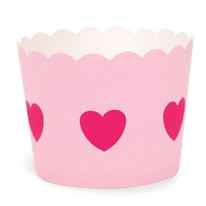 Baking cup pink heart - Party and Co