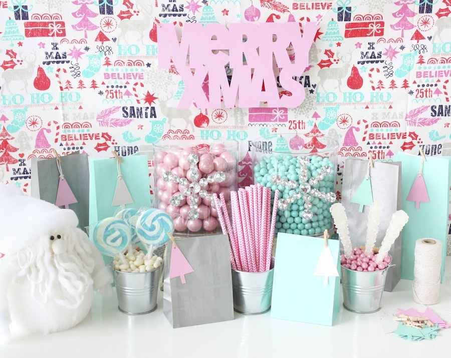 DIY Christmas pastel lolly buffet supplies - Style, Party Love