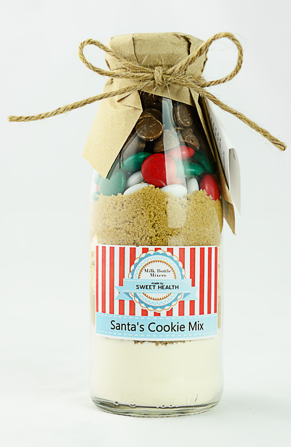 Santa Cookie mix in a bottle