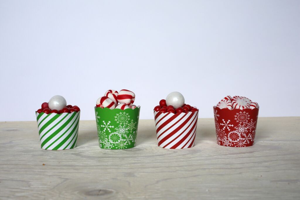 Christmas baking cups, 24 pack, $6.95