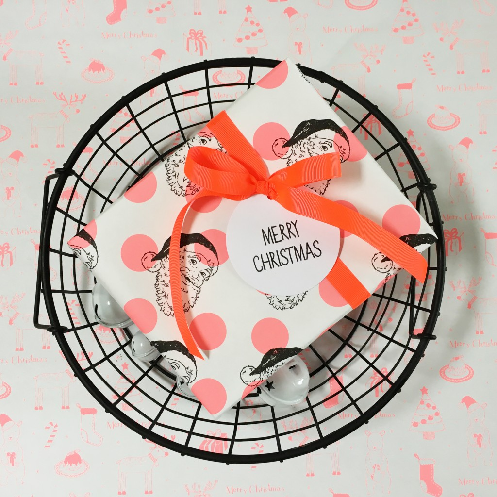 Neon Christmas wrapping accessories - The Party Parlour