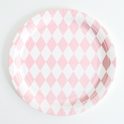 Pink diamond plate - Ruby Rabbit Partyware