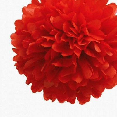 Christmas red tissue pom pom,  $4.95 - Ruby, Rabbit Partyware