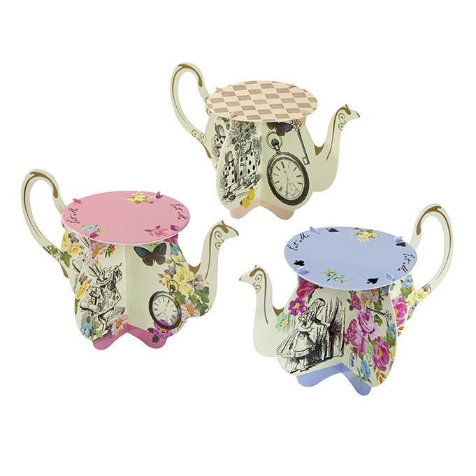 Alice in wonderland teapot cupcake stands - Ruby Rabbit Partyware