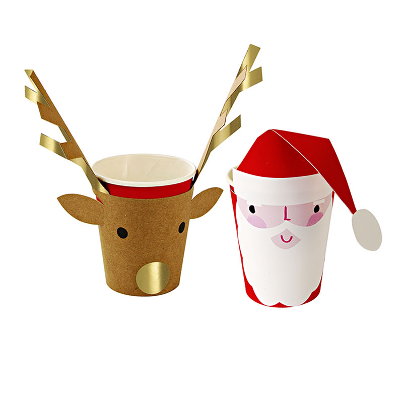 Christmas cups, 8 pack, $12.95 - Ruby Rabbit Partyware