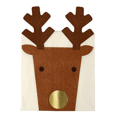 Christmas reindeer napkins, 16 pack, $10.95 - Ruby Rabbit Partyware