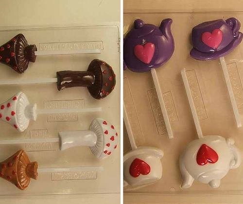 Alice in wonderland chocolate moulds - Confectionately yours