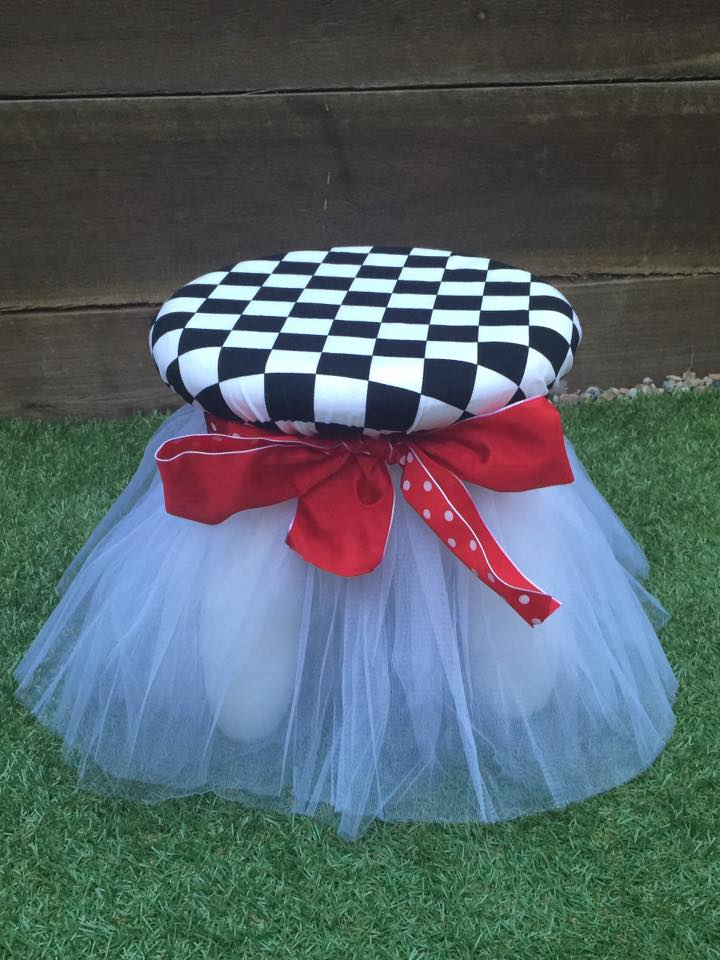 Alice in wonderland children's stools for hire - Enchanted Party Hire ( Qld)
