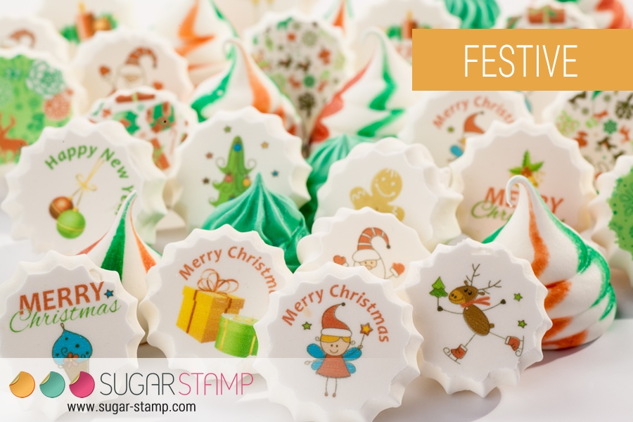 Meringue sugar stamps, $8 - Confectionately Yours
