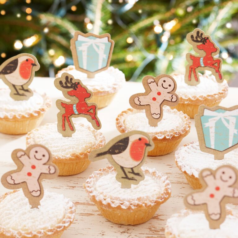 Christmas cupcake toppers - Confectionately Yours