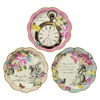 Alice in wonderland plates - Ruby Rabbit Partyware