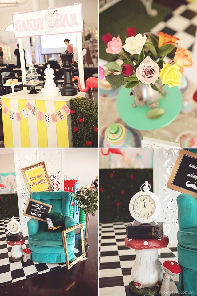 Alice in wonderland themed props for hire - Tiny Tots Toy Hire (Sydney)