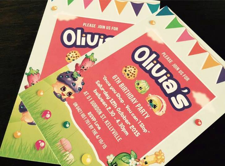 shopkins party invitation
