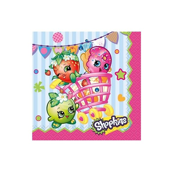 Shopkins napkins - Just Party supplies