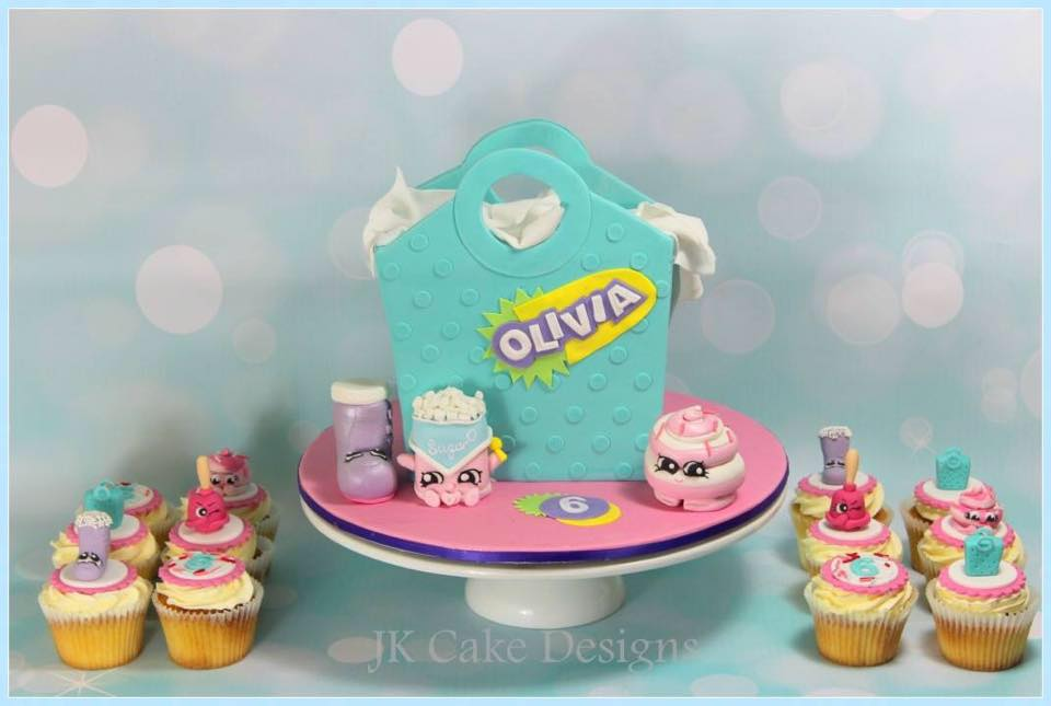 Shopkins cake and cupcakes - JK Cake Designs (Sydney)