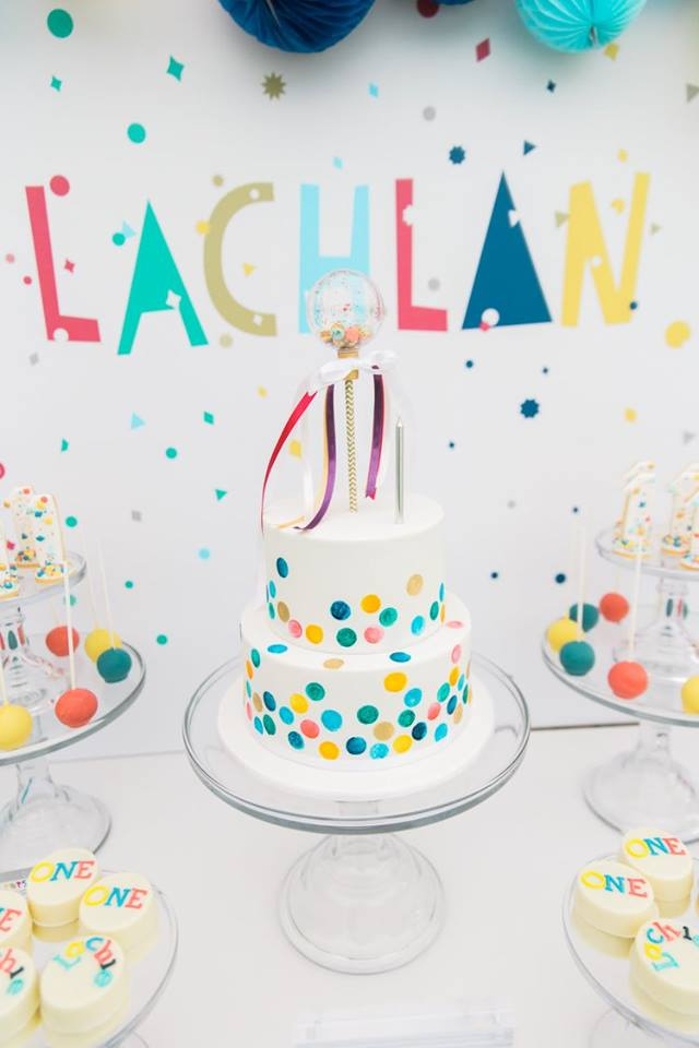 Confetti Themed First Birthday Party Lifes Little Celebration