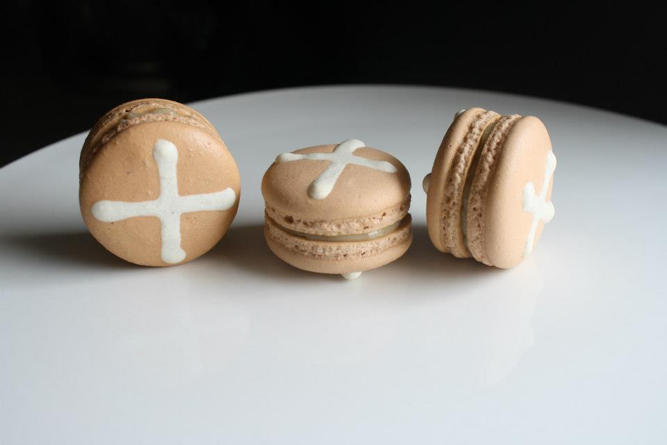 Easter Hot Cross Buns macarons - Moreish Macarons (Sydney)