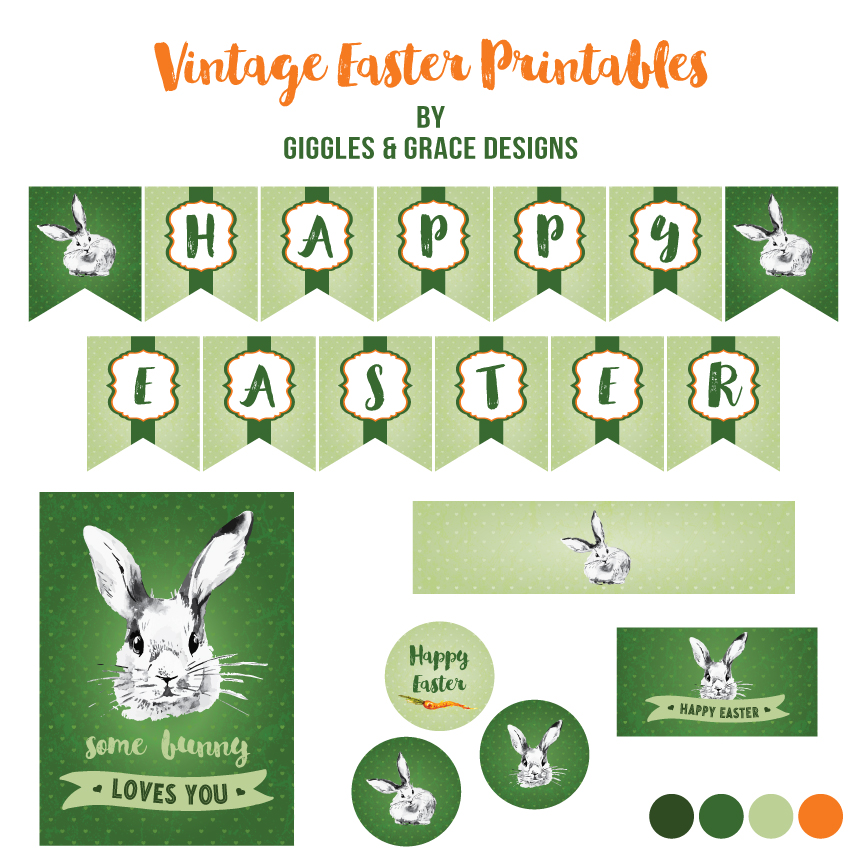 Easter printables - Giggles and Grace designs