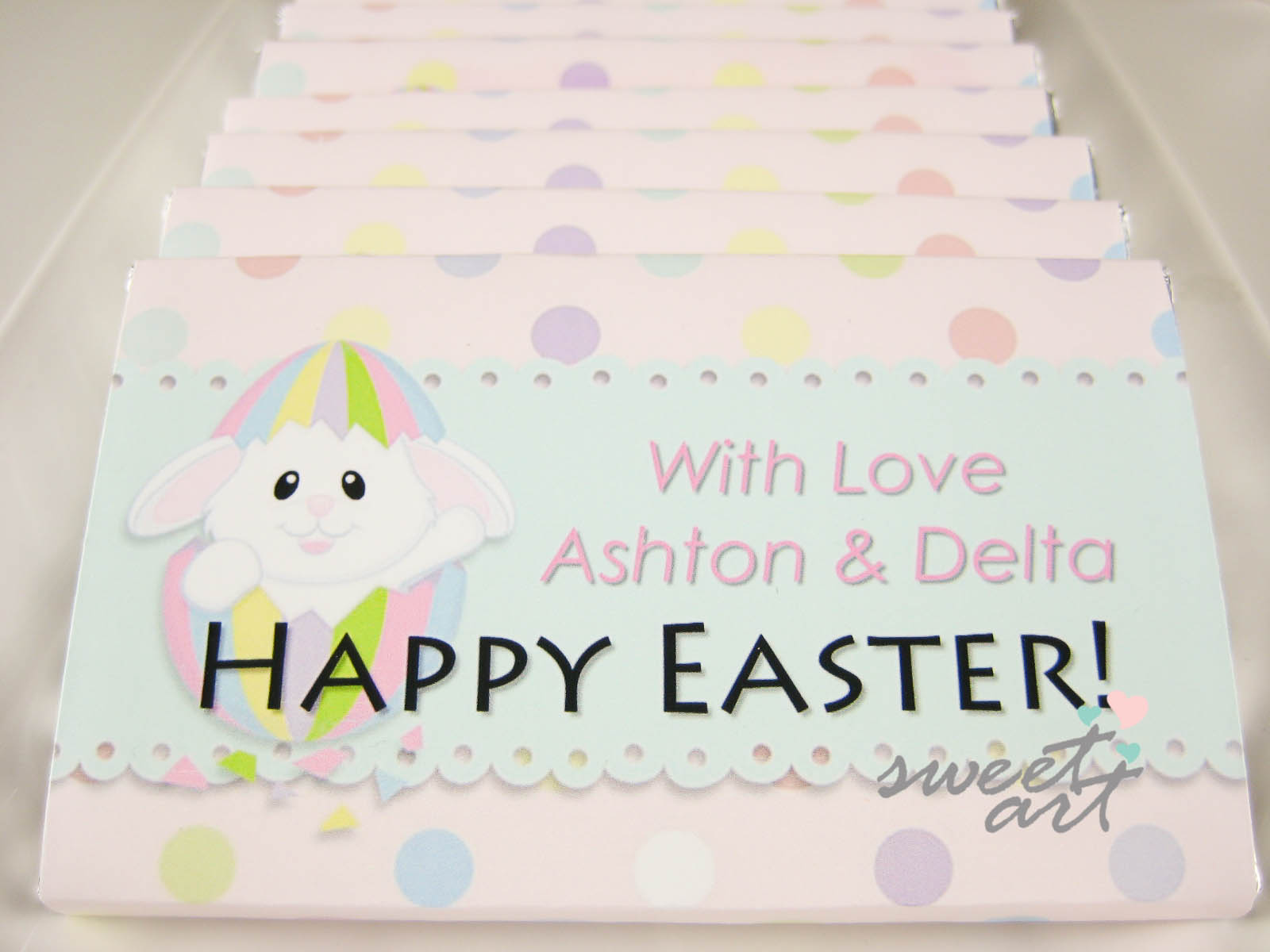 Easter chocolate bar - Sweet Art
