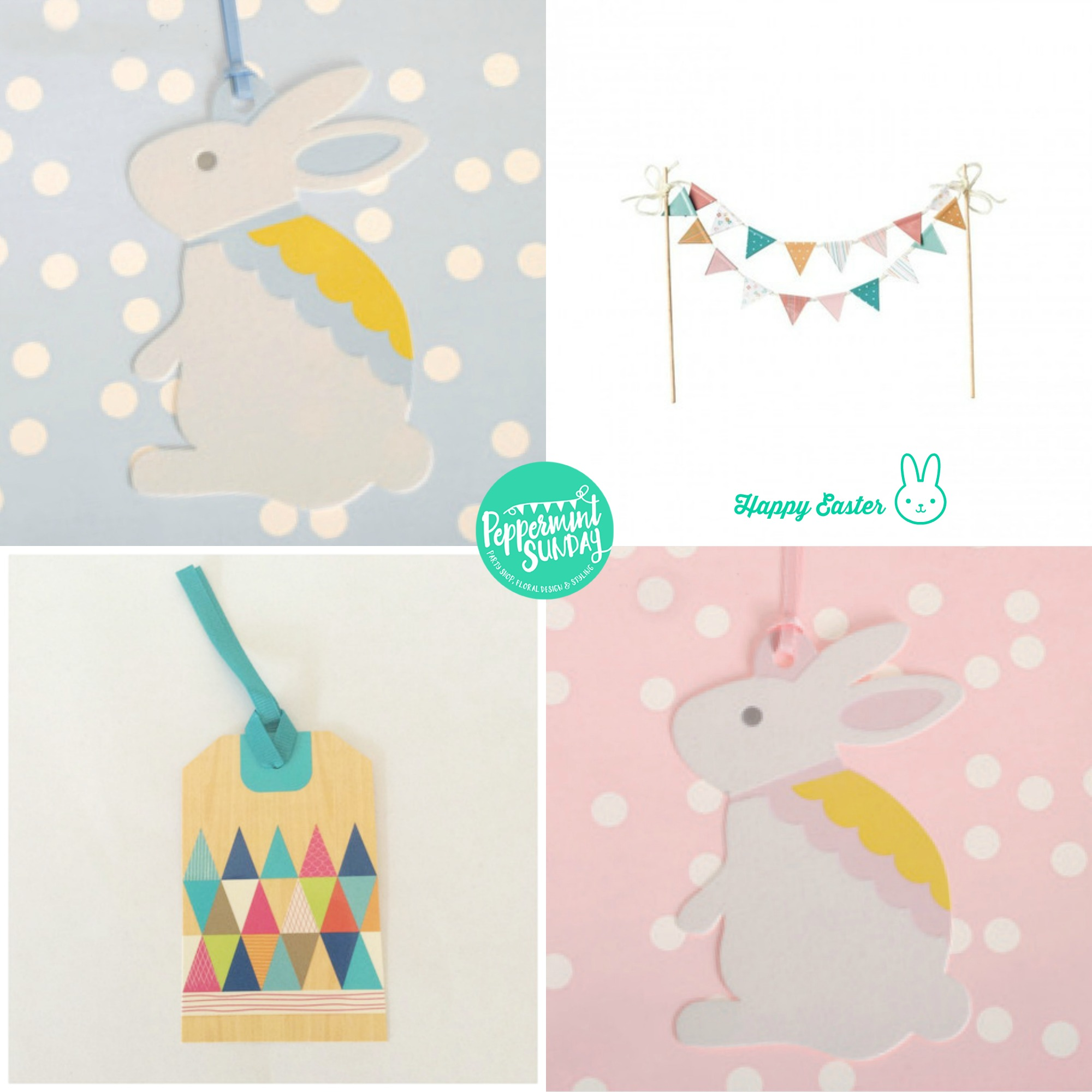 Easter partyware - Peppermint Sunday