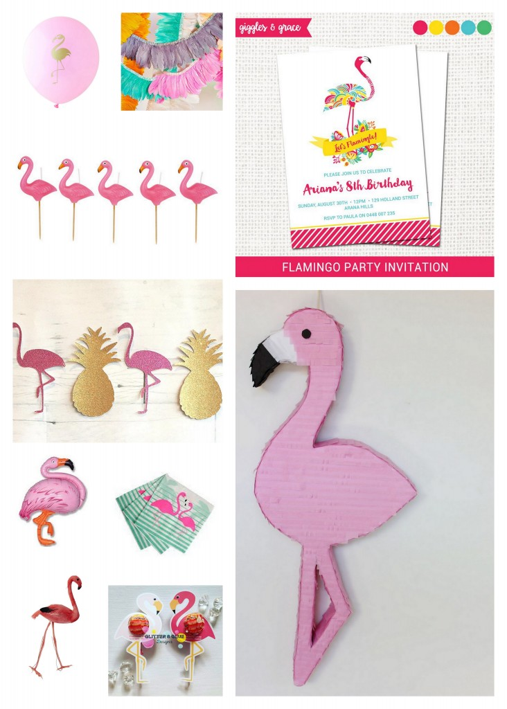 flamingo party supplies