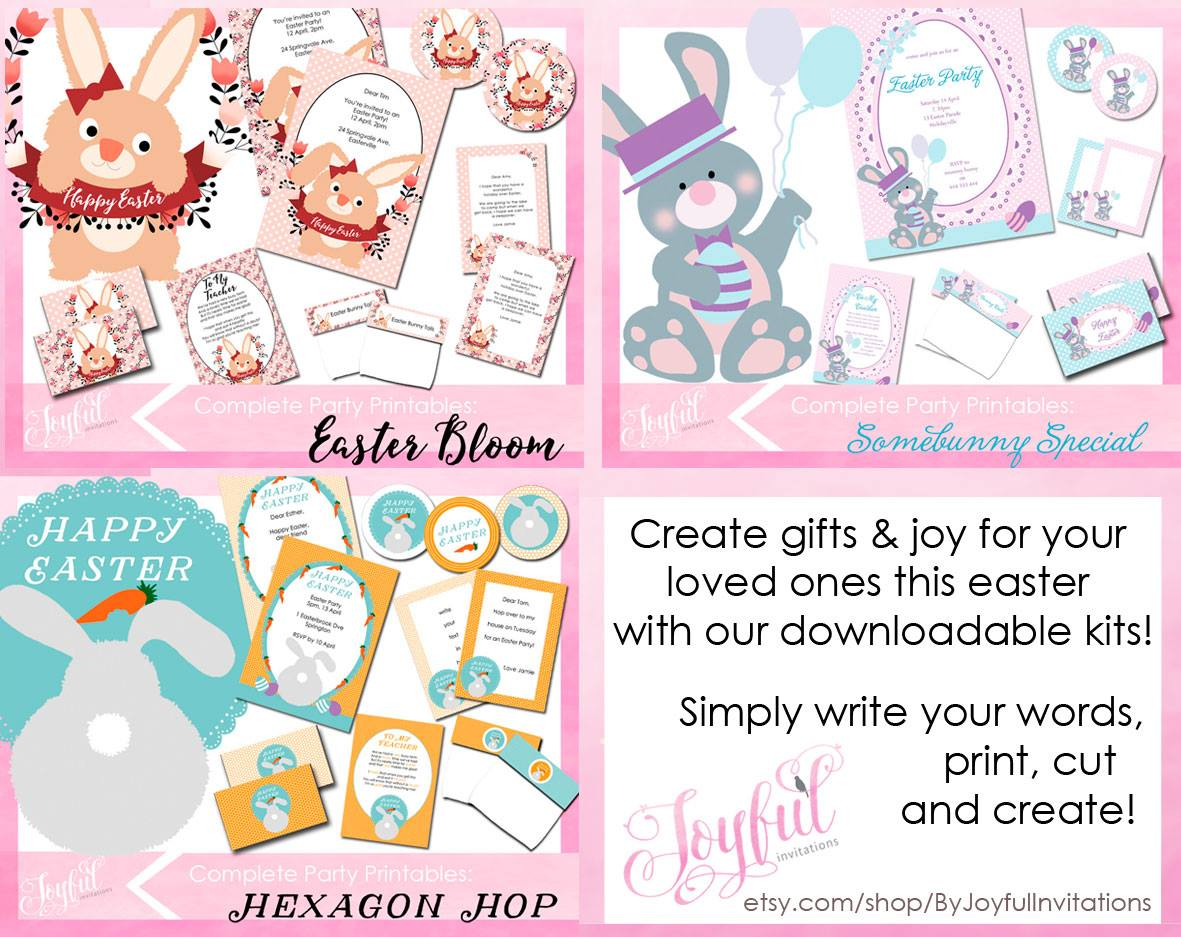 Easter printables - Joyful Invitations