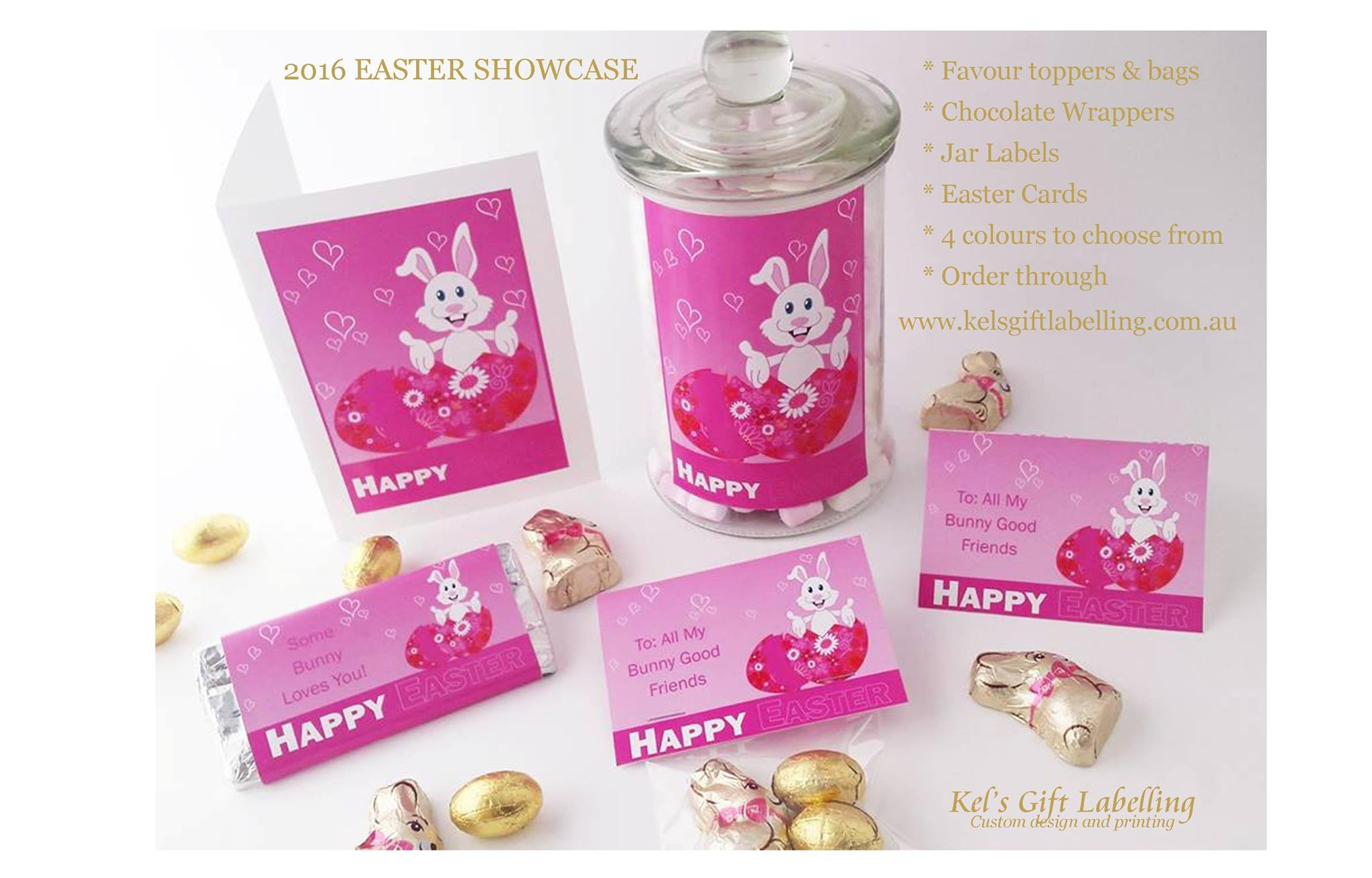 Easter gift stationery - Kel's Gift Labelling