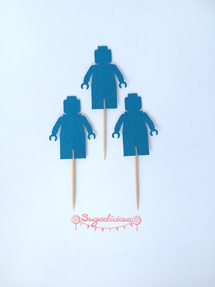 Lego party cupcake toppers - Sugarlicious Parties