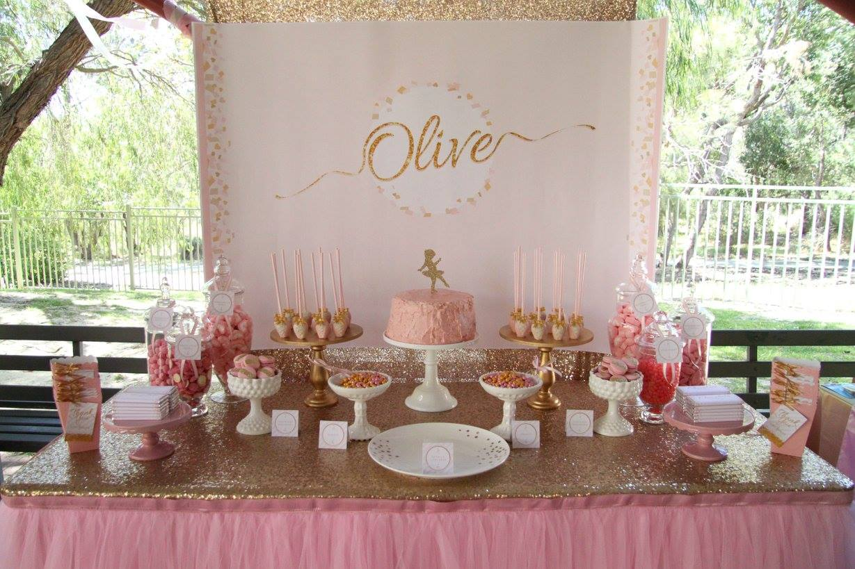 Olive's Ballerina party - I Heart Table Art