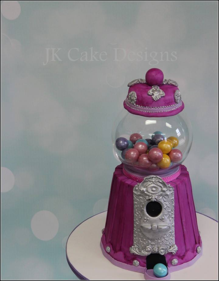 Gumball machine cake - JK Cake Designs