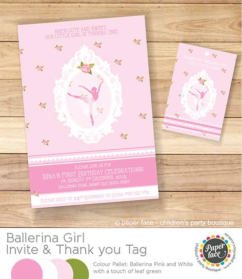 Ballerina invitation - Paper Face