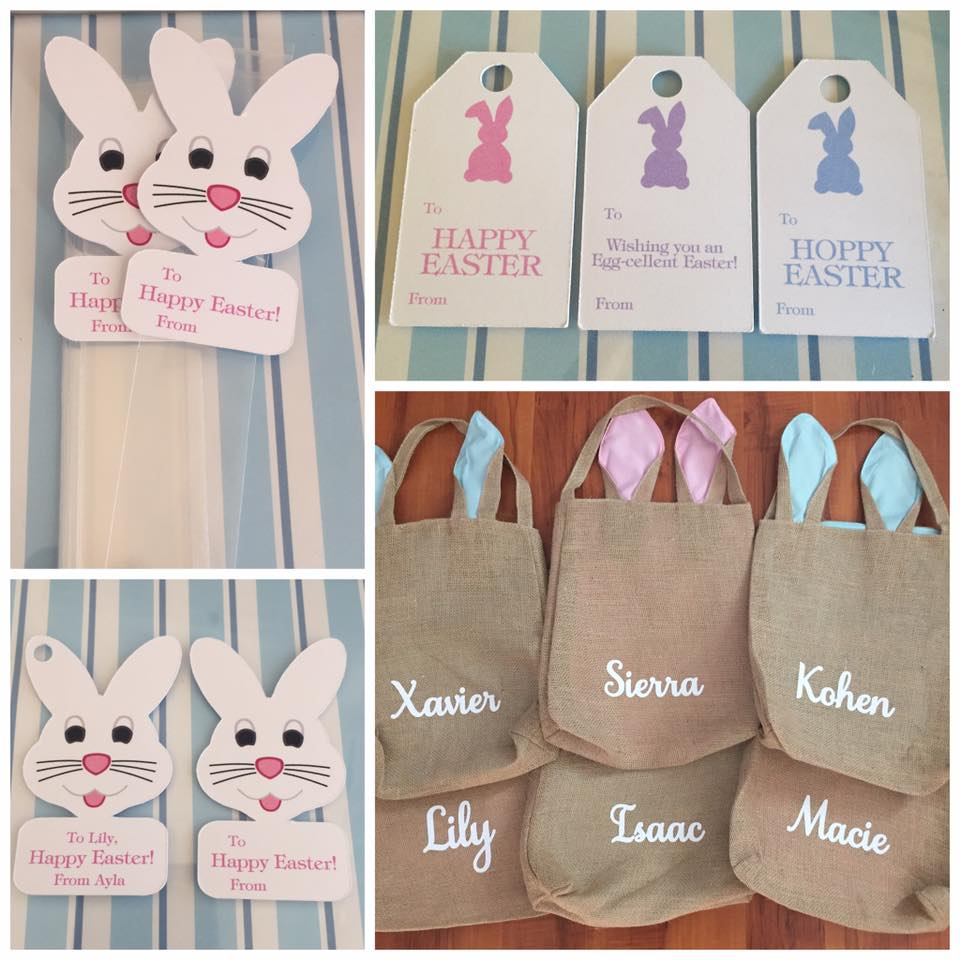 Easter gift bags and tags - DIY Parties by Renee