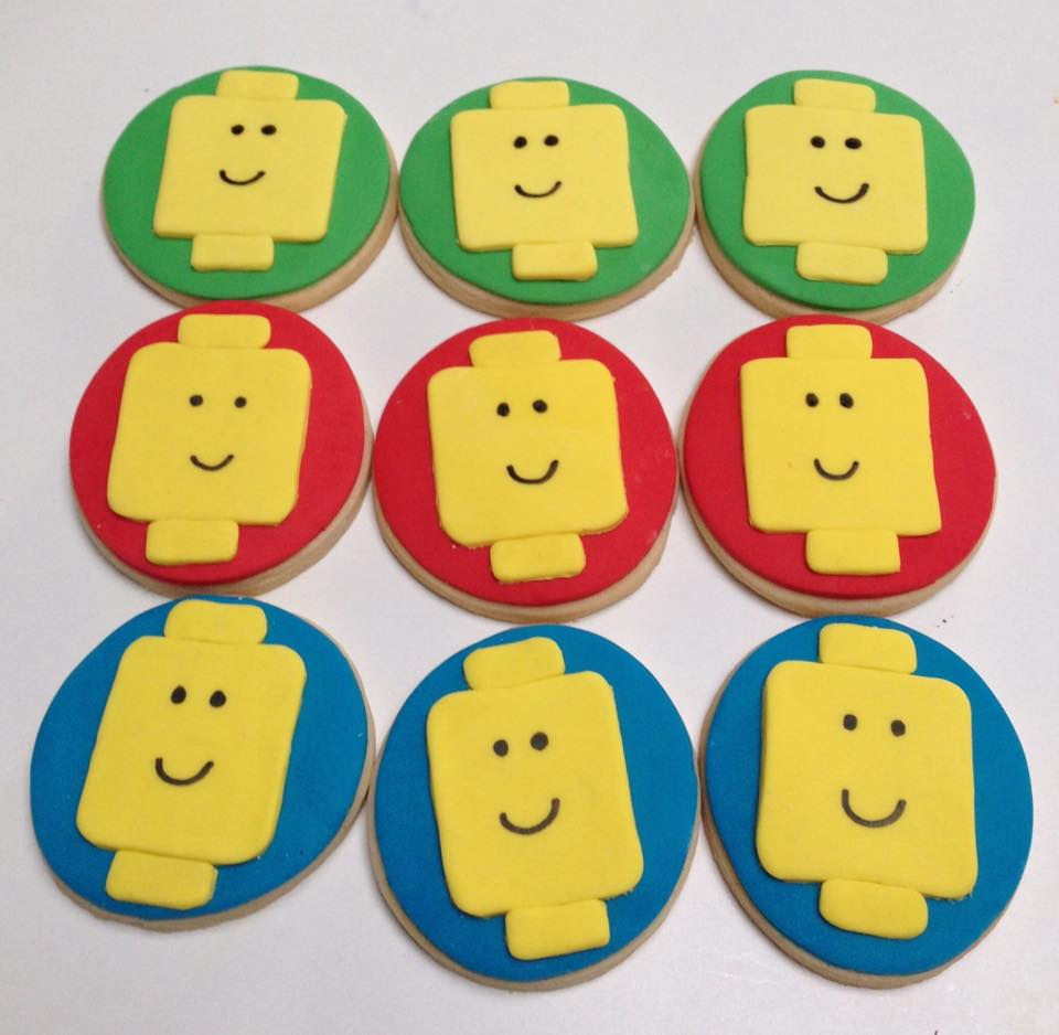 Lego cookies - One Sweet Chick (Sydney)