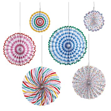 Toot Sweet Pinwheel Decorations - Emiko Blue