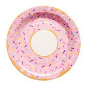Donut paper plates - Peppermint Sunday