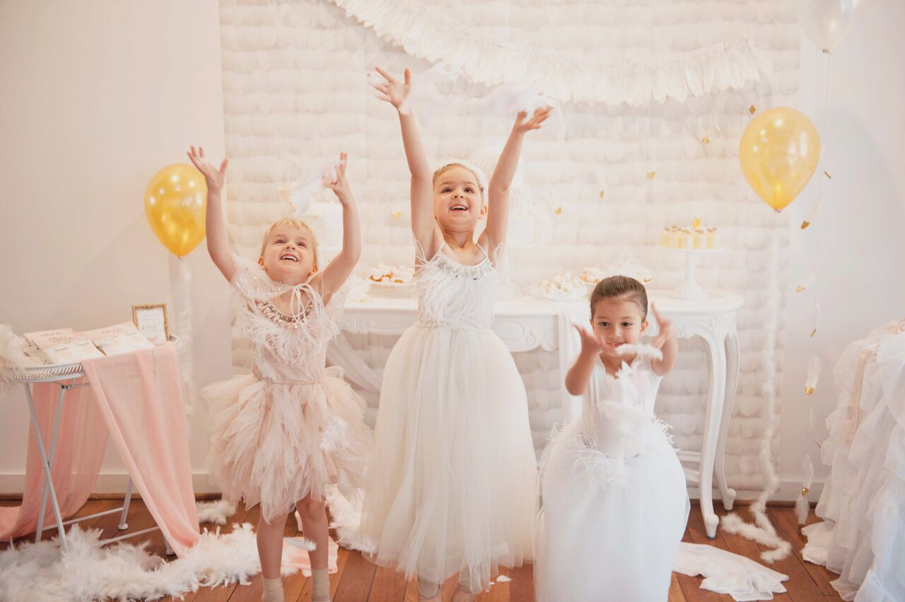 Swan princess ballerina party shoot - Dream a Little Dream children's parties/I Heart Table Art