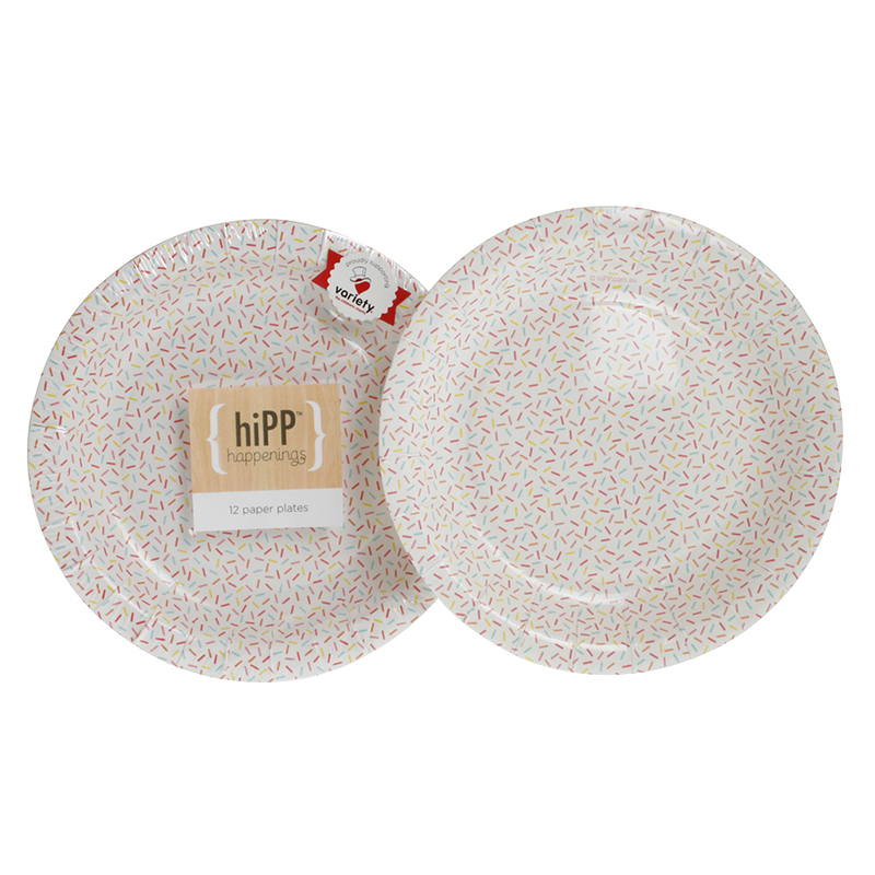 hiPP sprinkles plates - Hip and Hooray