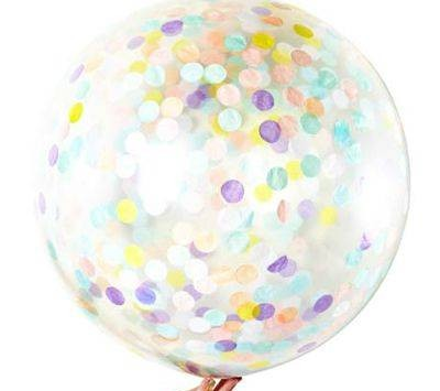 Jumbo pastel confetti balloons - Love The Occasion