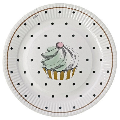 Cake and dots plate - Ruby Rabbit Partyware